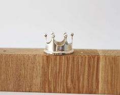 Crown Silver 925 Handmade Ring-Perfect as a pendant as well, with a long chain.