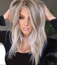 Hair Color Balayage, Blonde Balayage, Ombre Hair, Hair Colour, Blonde Brunette, Fall Hair Colors, Blonde Hair Looks, Ice Blonde Hair, Light Brown Hair