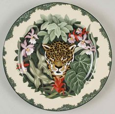 Rain Forest Salad Plate by Sakura
