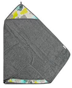 Texpol Bambusowe Okrycie Kąpielowe Z Kapturkiem CHMURKI 85x85cm - Asplaneta.pl Picnic Blanket, Outdoor Blanket, Picnic Quilt