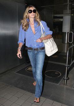 Elle MacPherson - Elle MacPherson at Miami Airport