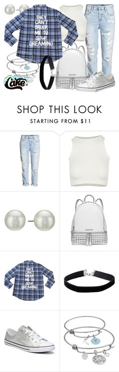 """""""Cakeworthy's """"Dreaming"""" Flannel"""" by leslieakay ❤ liked on Polyvore featuring Free People, Kenneth Jay Lane, MICHAEL Michael Kors, Miss Selfridge, Converse, Disney, disney, disneybound and disneycharacter"""