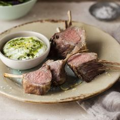 Roast Rack of Lamb with Basil and Lemon Pesto recipe