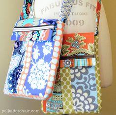Image of June Bag, Mini Messenger Bag Sewing Pattern PDF
