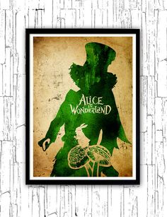 Tim Burton Alice in Wonderland Minimalist Poster by moonposter