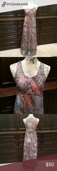 Maxi by made in San Francisco Excellent condition.  Wonderful flowing material. Anthropologie Dresses Maxi