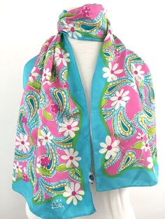 23ee8eaca5be Lilly Pulitzer Silk Scarf 2004 Ford 12x56in Breast Cancer Awareness Paisley  Pink #LillyPulitzer #Scarf #Everyday