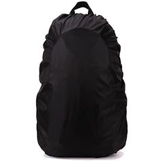 Eforstore Backpack Rain Cover Waterproof Pack Covers Nylon Rucksack Bag Rainproof Dust Raincover for Outdoor Hiking Camping Traveling Cycling Climbing Riding Sports 35L Black *** Be sure to check out this awesome product.
