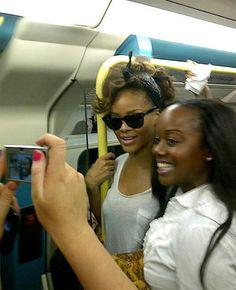 Rihanna no Metrô