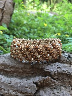 Pearl and crystal capricho bracelet