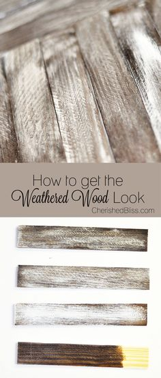 How to Weather Wood  by Cherished Bliss! #LumberProjects