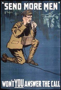Send More Men - Canadian World War I Poster