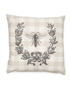 Made In USA Bee In Wreath Pillow