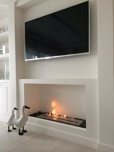 Home Design Ideas Wooden Fireplace, Fireplace Design, Fireplace Mantels, Electric Fireplace Tv Stand, Wooden Tv Stands, Cool House Designs, Family Room, Fire Places, Lounge Ideas