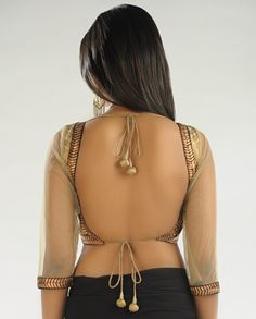 sexy back <3 Blouse Styles, Blouse Back Neck Designs, Sari Blouse Designs, Bridal Blouse Designs, Choli Designs, Diy Blouse, Blouse Patterns, Fashion Patterns, Indian Blouse