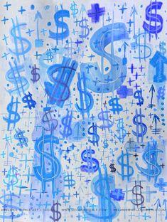 Blue Dollar Sign Wallpaper