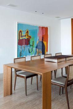 Apartamento João Caetano / Lia Siqueira - Azul Arquitetura & Design #jantar #dining