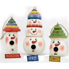 Snowmen Birdhouse Ornaments DOWNLOAD