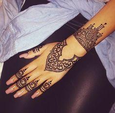 Henna Tattoo #black -  girl  #art,  #nails