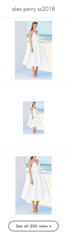 """alex perry ss2018"" by xandra-black ❤ liked on Polyvore featuring alex perry, dresses, jacquard midi dress, white striped dress, striped midi dress, low v neck dress, white dress, dresses/gowns, white and stripe midi dress"