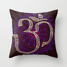 Calming Mantra Pillow Cover | dotandbo.com - Oh the tension! There's only one of these left!