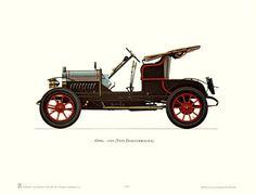 Antique Car Print #6 - 1909 Opel