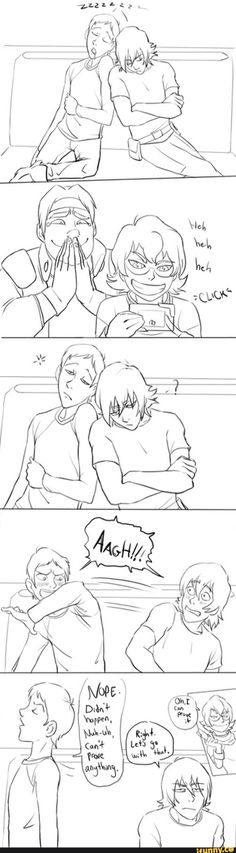 I need an episode where they're all worn out and lance and Keith are just leaning on each other sleeping