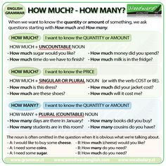 "hellolearnenglishwithantriparto: "" ""HOW MUCH"" & ""HOW MANY"" in English #learnenglish """