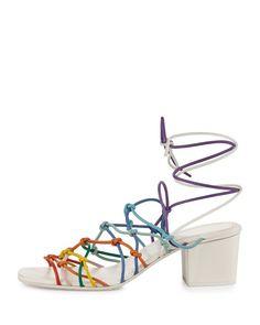 af38b4c18139 Chloe - Knotted Ankle-Wrap Sandal Shoe Sites