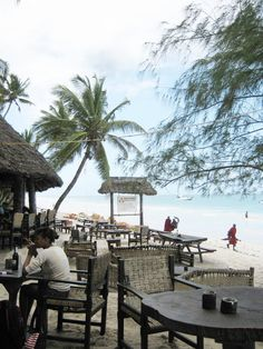 Beach bar, Mombasa, Kenya