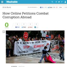 http://mashable.com/2013/06/11/change-government-corruption/ How Online Petitions Combat Corruption Abroad | #Indiegogo #fundraising http://igg.me/at/tn5/