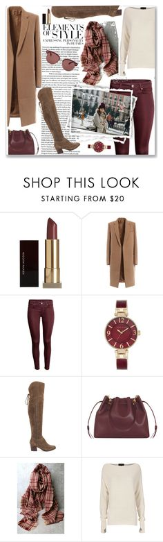 """The Details"" by ahapplet ❤ liked on Polyvore featuring Kevyn Aucoin, Anne Klein, Vera Wang, ALDO, Sophie Hulme, Look by M, Intermix, Oliver Peoples, scarf and burgundy"