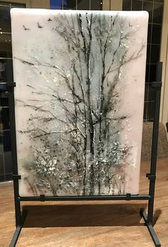 winter trees HOS by jackie SIMMONDS Glass , beautiful gift for some very special Glass Artwork, Glass Wall Art, Sea Glass Art, Stained Glass, Broken Glass Crafts, Broken Glass Art, Shattered Glass, Glass Fusion Ideas, Glass Fusing Projects
