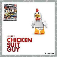 NEW CHICKEN SUIT GUY LEGO MINIFIGURE SERIES 9 - SEALED IN BAG - READY TO SHIP! #Lego #Series9 #chickenSuitGuy #ebay #LegoSeries9