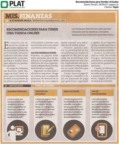 PayU: Recomendaciones para tiendas virtuales en el diario Perú21 de Perú (28/06/2017)