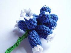 free pattern - Grape Hyacinth Flower - 365 Flowers Project