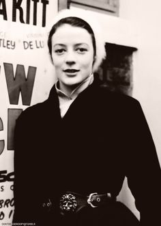 Maggie Smith as a young woman.