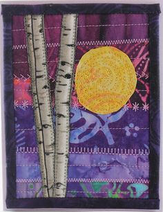 birch tree quilted card