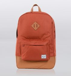 "Herschel Heritage 15"" Laptop Backpack - Rust/Tan at Rushfaster.com.au"