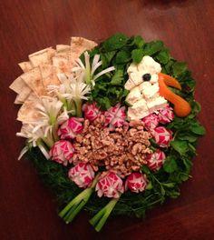 Turkey sabzi khordan,gobble gobble Bread, feta cheese, radish, walnuts, fresh herbs.