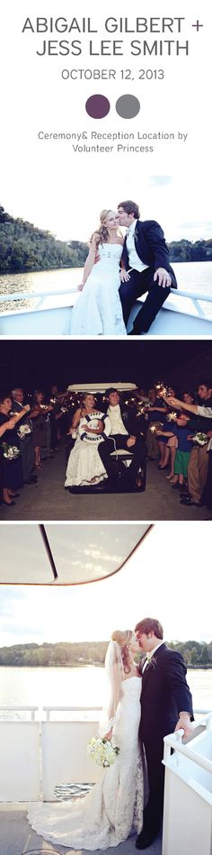 Classic nautical wedding in Knoxville on Volunteer Princess Cruises | The Pink Bride www.thepinkbride.com