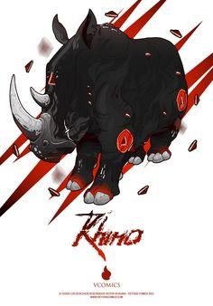 Rhino by Victors Comics, via Behance