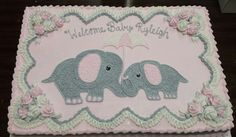 Trendy Ideas Baby Shower Ides Food For Girls Elephant Cakes Baby Shower Food For Girl, Elephant Baby Shower Cake, Baby Girl Elephant, Elephant Cakes, Elephant Birthday, Baby Shower Vintage, Baby Shower Niño, Elephant Theme, Baby Shower Winter