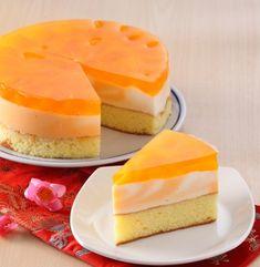 CAKE LAPIS PUDING JERUK Sajian Sedap Puding Cake, Bolu Cake, Resep Cake, Pudding Desserts, Pudding Recipes, Cake Recipes, Dessert Recipes, Indonesian Desserts, Jelly Cake