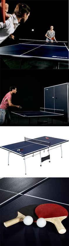 Tables 97075: New Dunlop Easy Fold Outdoor Table Tennis Table Folding Ping  Pong Indoor Outdoor  U003e BUY IT NOW ONLY: $204.99 On EBay!