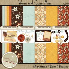 Digital Scrapbooking Warm And Cozy Mini #DandelionDustDesigns #DigitalScrapbooking