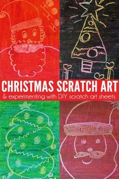 Christmas Scratch Art & DIY Scratch Art Sheet Experiments | Childhood101