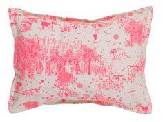 Decorative cushion / pillow: Toile de Jouy rose By Livette la Suissette