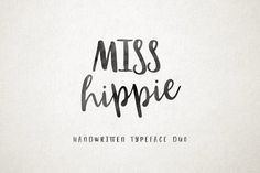 Miss Hippie DUO by MediaLab.Co on @creativemarket