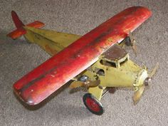 1920s-30s TURNER TRIMOTOR COCA COLA AIRPLANE steelcraft plane pressed steel